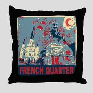 french-quarterbluessq Throw Pillow
