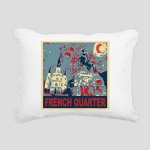 french-quarterbluessq Rectangular Canvas Pillo