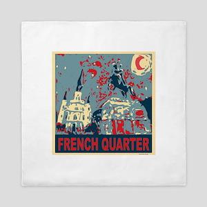 french-quarterbluessq Queen Duvet