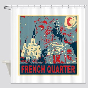 french-quarterbluessq Shower Curtain