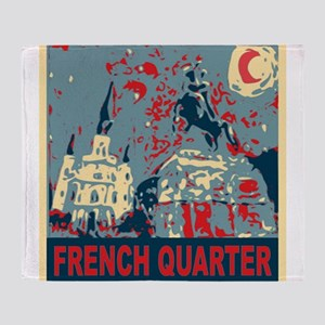 french-quarterbluessq Throw Blanket