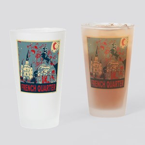 french-quarterbluessq Drinking Glass