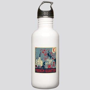 french-quarterbluessq Water Bottle