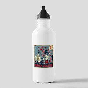 french-quarterbluessq Water Bottle