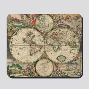 World Map 1671 Mousepad