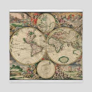 World Map 1671 Queen Duvet