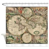 Ancient world map Shower Curtains