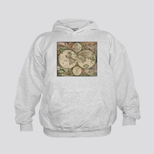 World map sweatshirts hoodies cafepress world map 1671 hoodie gumiabroncs Images