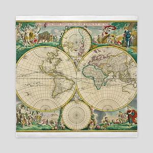 World Map 1670 Queen Duvet