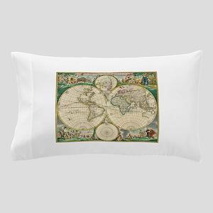 World Map 1670 Pillow Case