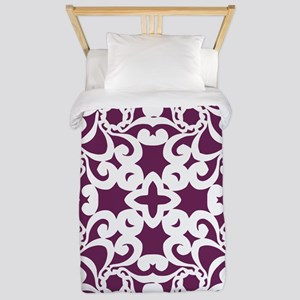 Alyssum & White Lace Tile Twin Duvet
