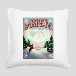 Aspen Paradise Square Canvas Pillow