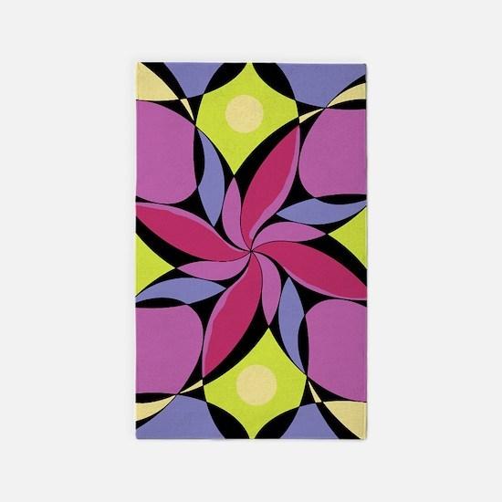 Geometric Design #9 3'x5' Area Rug