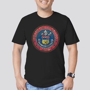 Aged Colorado Seal Men's Fitted T-Shirt (dark)