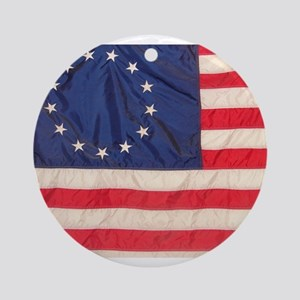 AMERICAN COLONIAL FLAG Ornament (Round)