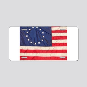 AMERICAN COLONIAL FLAG Aluminum License Plate