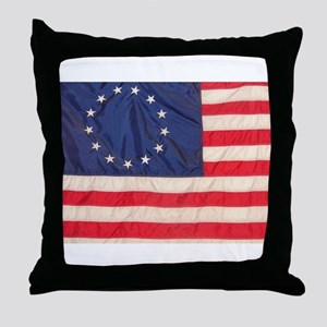 AMERICAN COLONIAL FLAG Throw Pillow