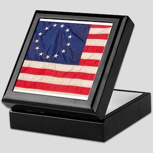 AMERICAN COLONIAL FLAG Keepsake Box