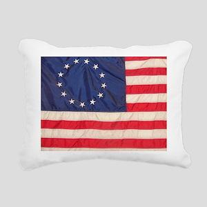 AMERICAN COLONIAL FLAG Rectangular Canvas Pillow