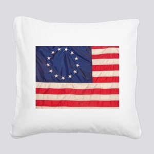 AMERICAN COLONIAL FLAG Square Canvas Pillow