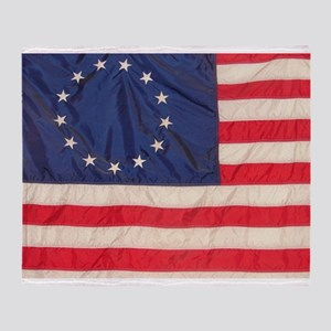 AMERICAN COLONIAL FLAG Throw Blanket