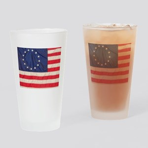 AMERICAN COLONIAL FLAG Drinking Glass