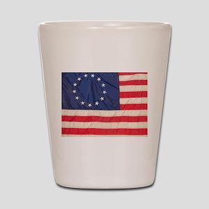 AMERICAN COLONIAL FLAG Shot Glass