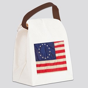AMERICAN COLONIAL FLAG Canvas Lunch Bag