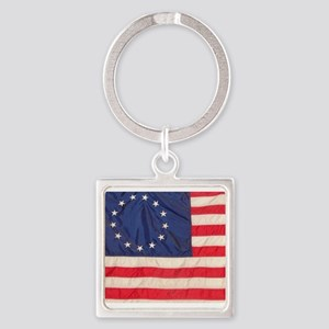 AMERICAN COLONIAL FLAG Square Keychain