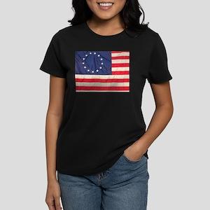 AMERICAN COLONIAL FLAG Women's Dark T-Shirt