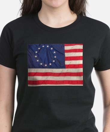 AMERICAN COLONIAL FLAG Women's Dark T-Shirt