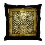 Celtic Letter H Throw Pillow