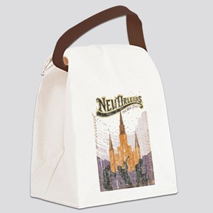 Faded French Quarter Canvas Lunch Bag