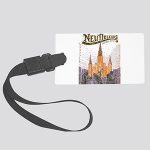 Faded French Quarter Large Luggage Tag