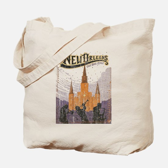 Faded French Quarter Tote Bag