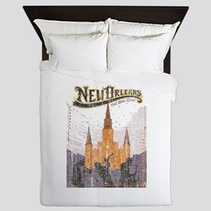 Faded French Quarter Queen Duvet