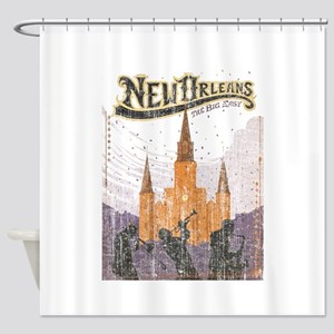 Faded French Quarter Shower Curtain