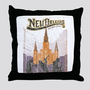 Faded French Quarter Throw Pillow