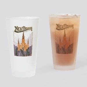Faded French Quarter Drinking Glass