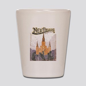 Faded French Quarter Shot Glass
