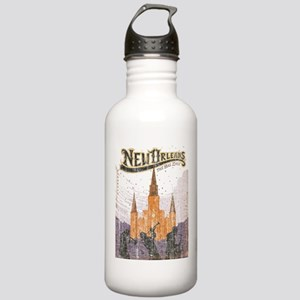 Faded French Quarter Stainless Water Bottle 1.0L