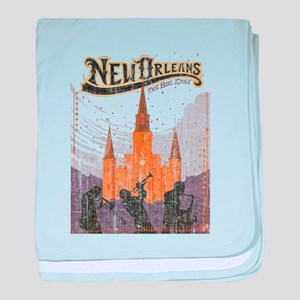 Faded French Quarter baby blanket