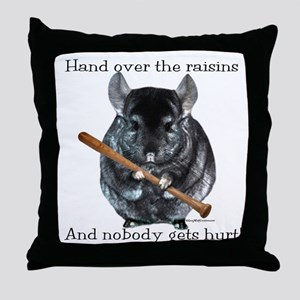 Chin Raisin Throw Pillow