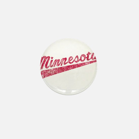 Faded Minnesota Mini Button