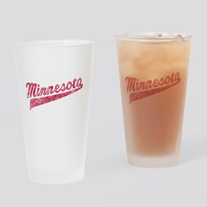 Faded Minnesota Drinking Glass