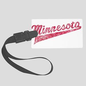Faded Minnesota Luggage Tag