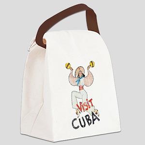Vintage Visit Cuba Canvas Lunch Bag