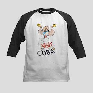 Vintage Visit Cuba Kids Baseball Jersey