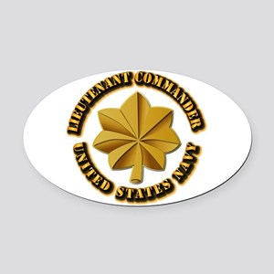 Navy - LCDR Oval Car Magnet