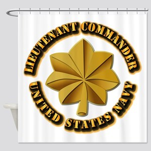 Navy - LCDR Shower Curtain